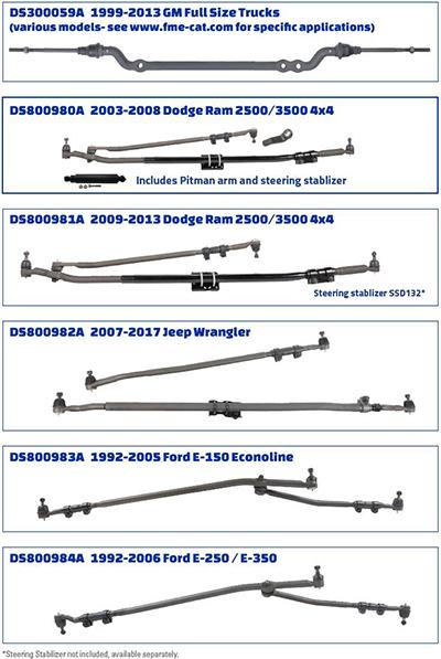 tie rods \u0026 steering linkage parts moog parts Ford E-250 Cargo Van