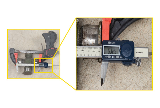 Measuring-U-Joint-With-Calipers